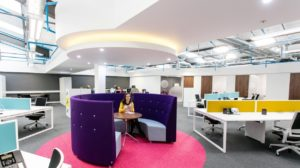 Newly designed fitted office breakout zone