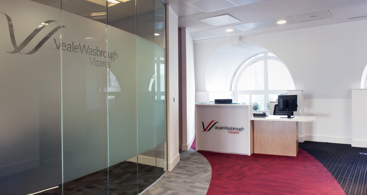 New office reception in refurbished London law firm