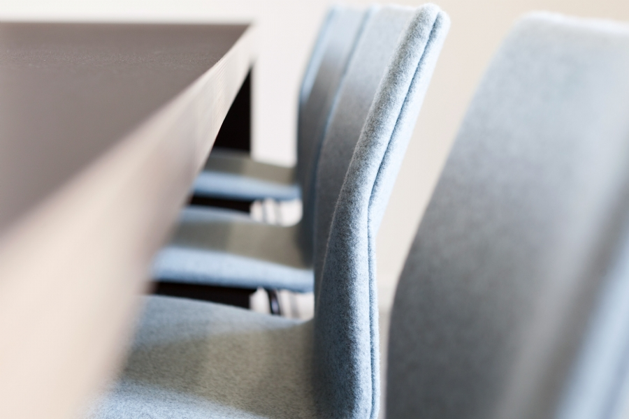 Close up of new office furnishing